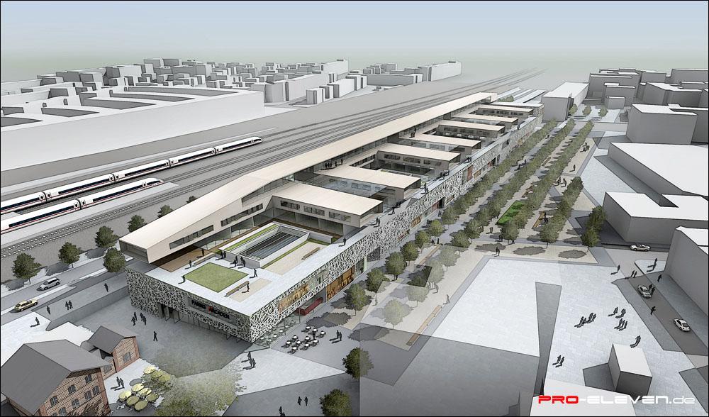 3d Visualisierung München projekte architektur arcaden pasing pro eleven münchen
