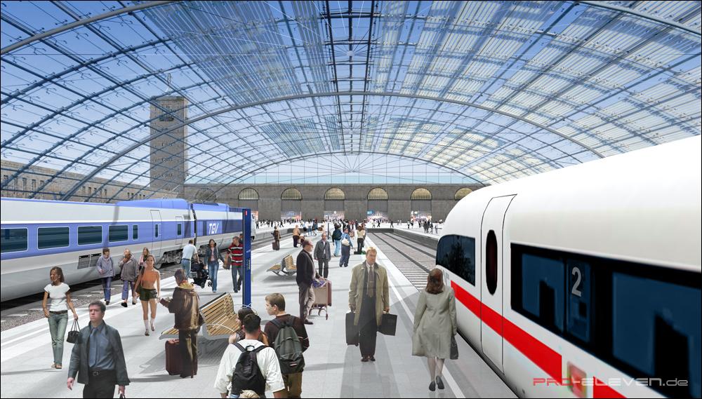 Architekturvisualisierung Stuttgart projekte architektur hbf stuttgart pro eleven münchen