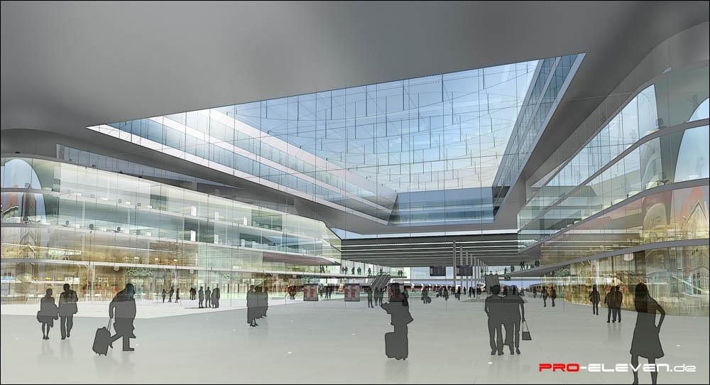 Visualisierung München projekte innenraum hbf münchen pro eleven münchen architektur