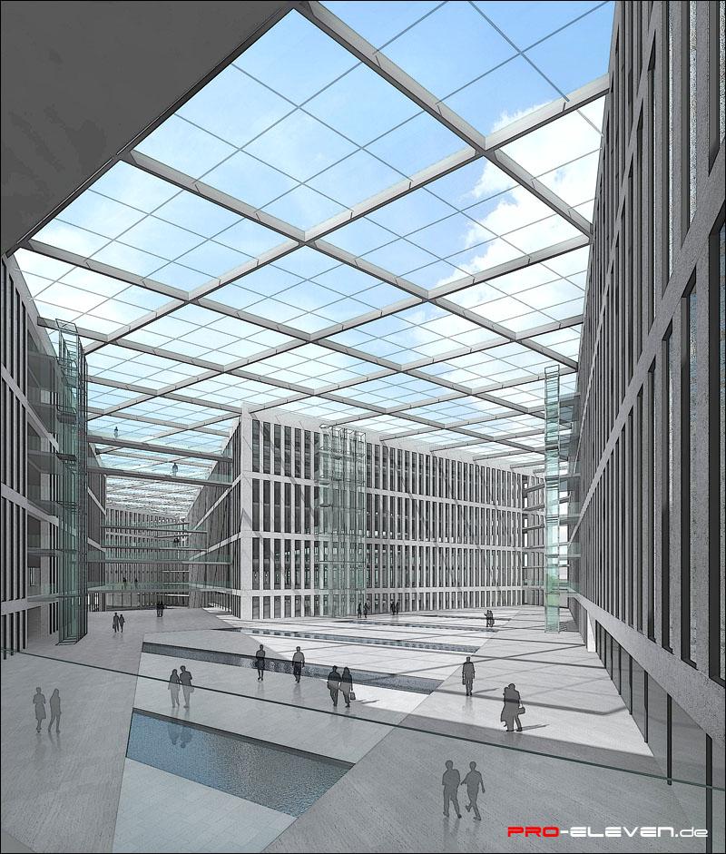 Projekte innenraum bundesinnenministerium berlin pro for Innenraum design berlin