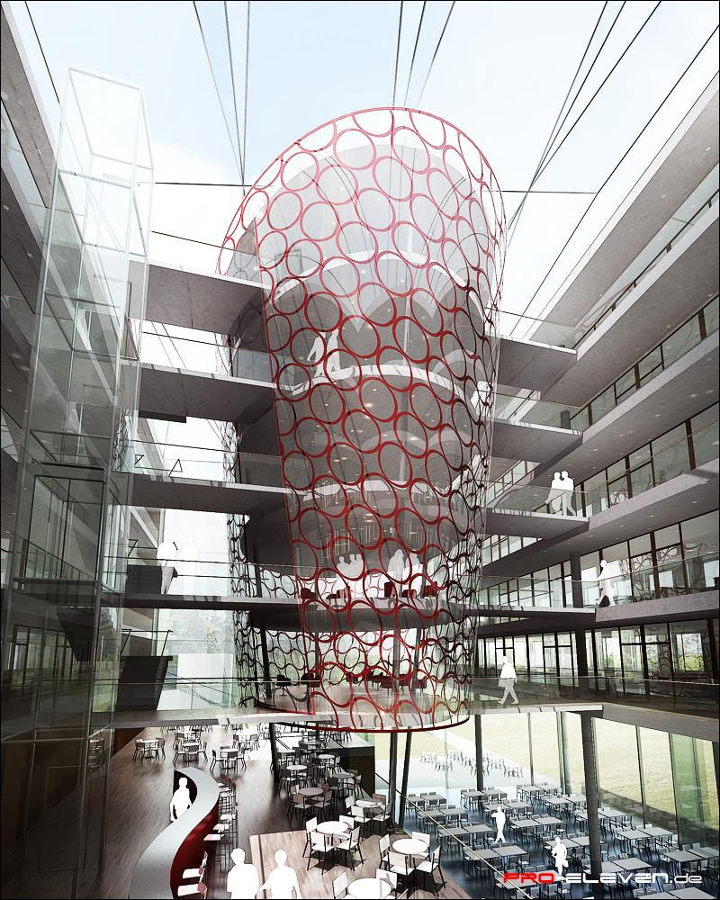 Architekturvisualisierung Stuttgart projekte innenraum ministerium stuttgart pro eleven münchen