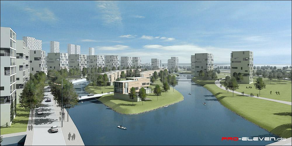 Visualisierung München projekte städtebau wohnquartier qinhuangdao pro eleven