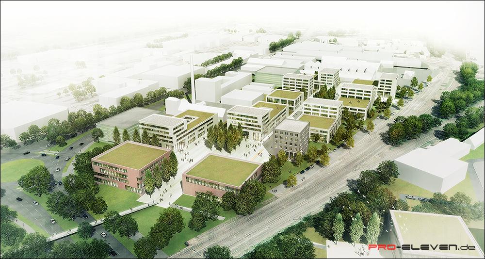 Visualisierung München projekte städtebau shoppingmall luxembourg pro eleven münchen